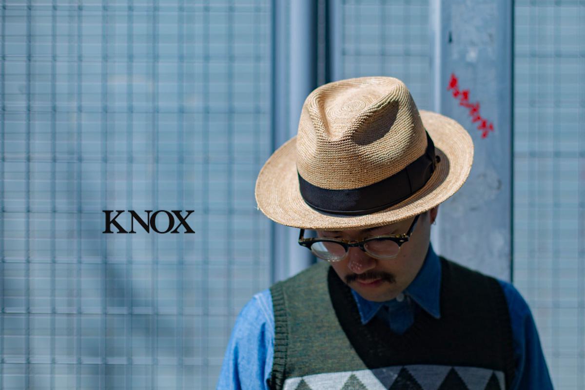 ラフィア素材のハットがラインナップされた〈KNOX〉2019SS別注アイテム
