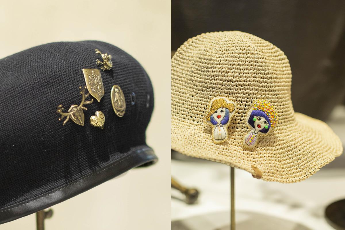帽子のアクセントにおすすめ「kaus」と「流流」のハットピン